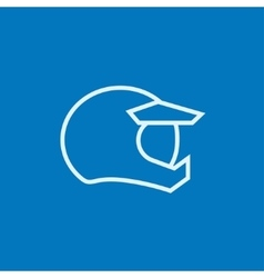 Motorcycle helmet line icon vector