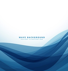clean blue business style wave background vector image vector image