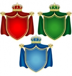 coat of arms banners vector image vector image