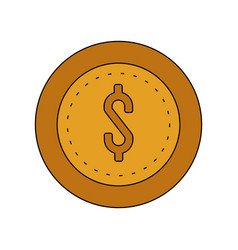 Coin cash icon image vector