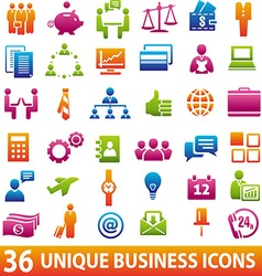 ColorBusinessicons vector image