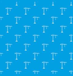 construction crane pattern seamless blue vector image vector image