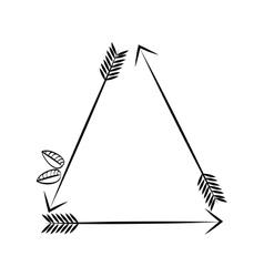 Decorative bow arrow vector