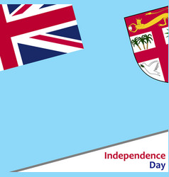 Fiji independence day vector