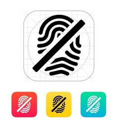 Fingerprint rejected icon vector image