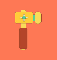 flat icon on background kids toy hammer vector image vector image