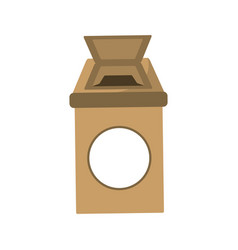 isolated ecologic trash can vector image vector image