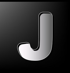 Letter j sign design template element vector