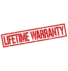 Lifetime warranty stamp vector