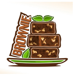 logo for brownie vector image