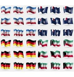Mari el french and antarctic germany kuwait set of vector