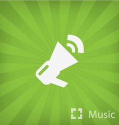 Megaphone icon in minimal style vector image vector image