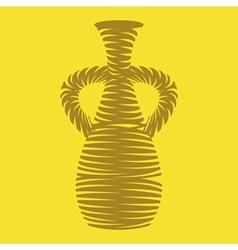 monochrome icon set with amphora vector image