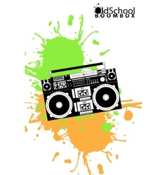 Old school boombox vector
