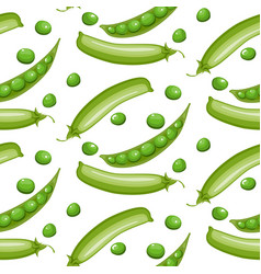 seamless pattern with green peas vector image vector image