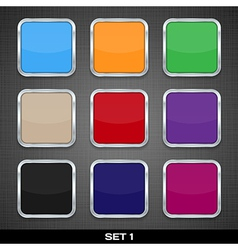 Set Of Colorful App Icon Templates Buttons vector image vector image