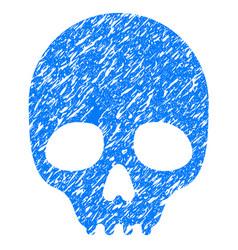 Skull grunge icon vector