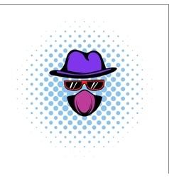 Spy comics icon vector