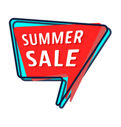 Summer sale bubble vector