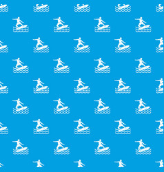 surfer pattern seamless blue vector image vector image