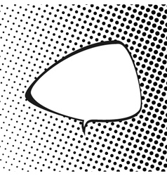 Triangular Speech Bubble Pop Art vector image vector image