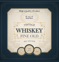 Vintage western whiskey label package vector
