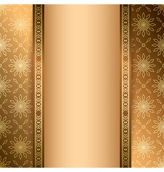 Light and dark brown background with ornament vector