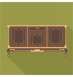 Digital vintage green cabinet furniture vector