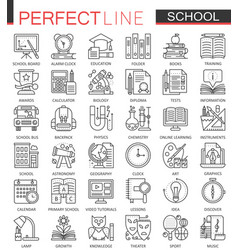 School education outline concept symbols perfect vector