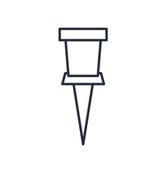 Push pin icon office element icon vector