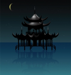 traditional house vector image