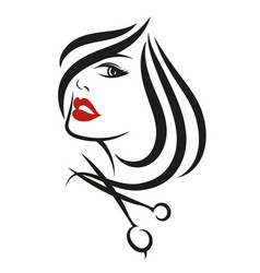 Female face beauty salon vector
