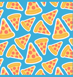 Pizza slice seamless pattern vector