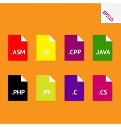 Source code file formats vector