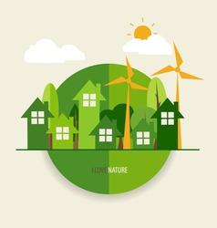 Environmentally friendly world ecology concept vector