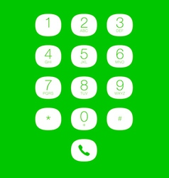 Phone keypad for touchscreens vector