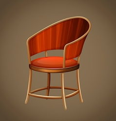 Classic design of wooden chair vector
