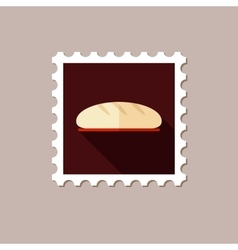 Bread flat stamp with long shadow vector