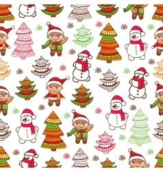 Christmas pattern 1 vector