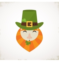 Happy st patricks day irish man with beer st vector