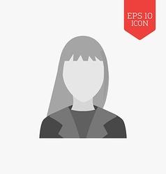 Woman avatar icon flat design gray color symbol vector