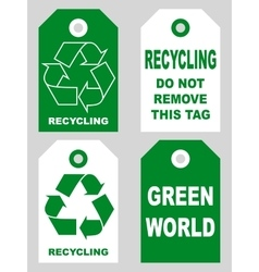 Recycling tags set front and back sidesorganic eco vector