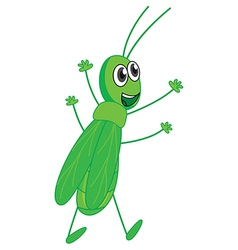 A smiling grasshopper vector image vector image