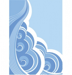 abstract seascape vector image vector image