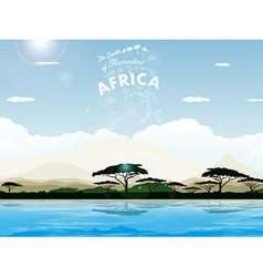 Africa - The Cradle of Humankind vector image vector image