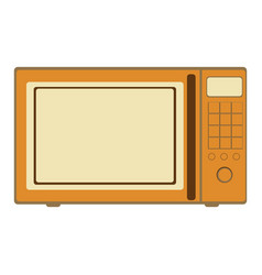 Aged silhouette with oven microwave vector