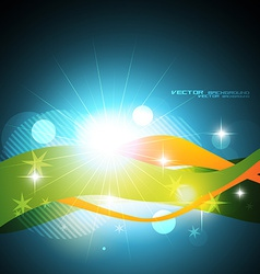 beautiful shiny wave vector image