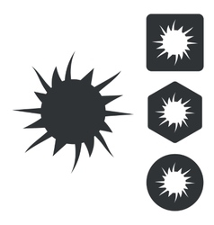 Burst icon set monochrome vector