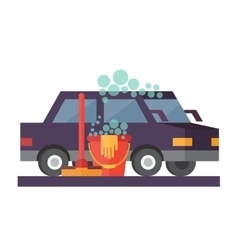 Car service hand wash and transport cleaning vector
