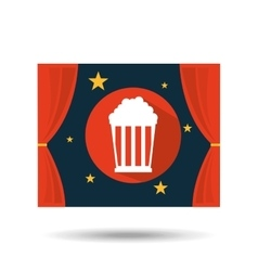 concept cinema theater pop corn graphic design vector image
